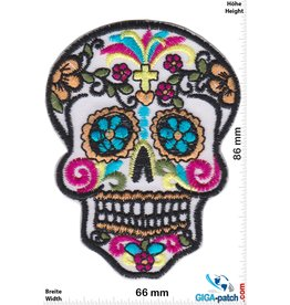 Muerto Skull - Muerto- white with crucifix