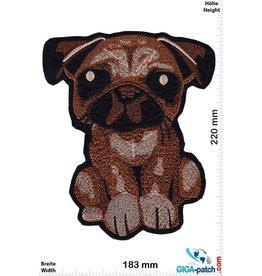 junger süsser Mops Welpe - Hund - 22 cm