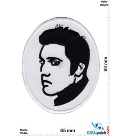 Elvis Elvis - black white  -oval