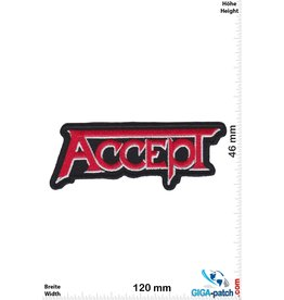 Accept Accept - red silver - Heavy-Metal