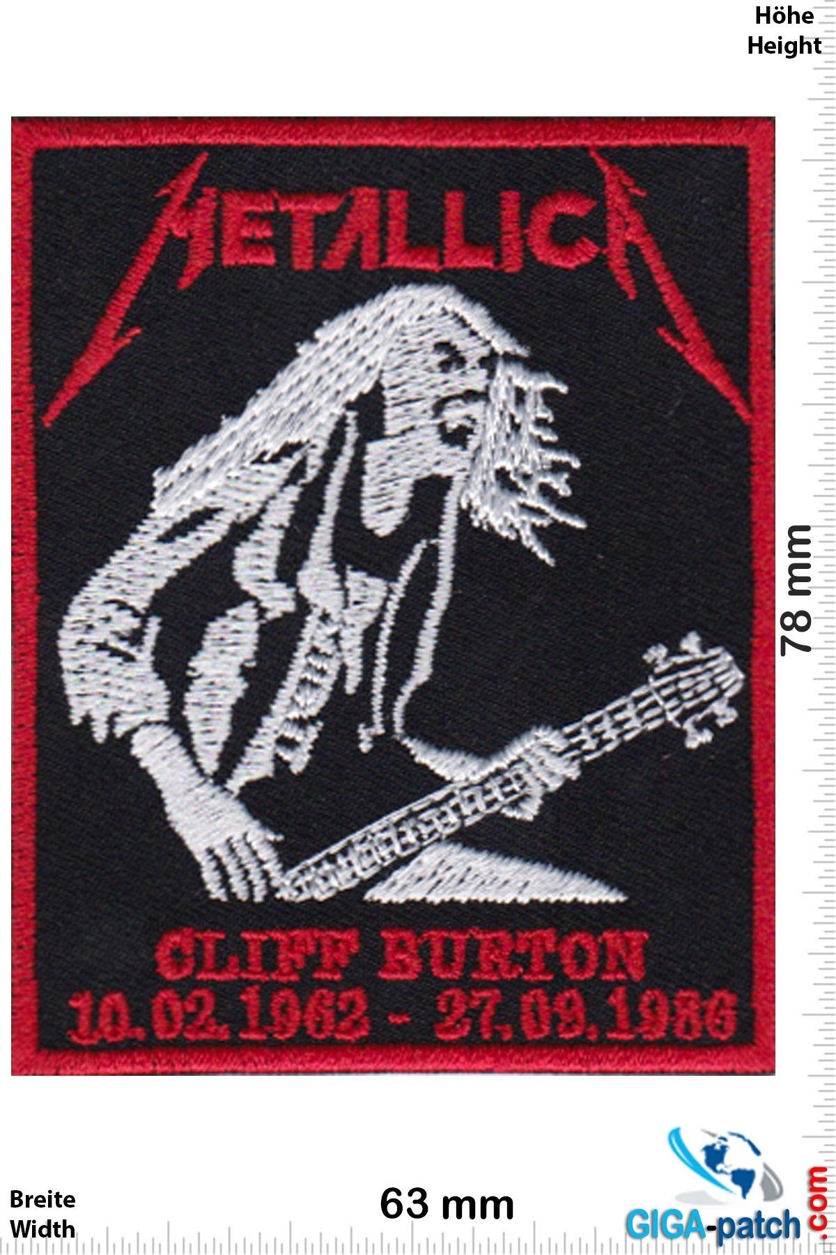 Metallica Metallica - Cliff Burton - 10.02.1962  - - 27.09-1980