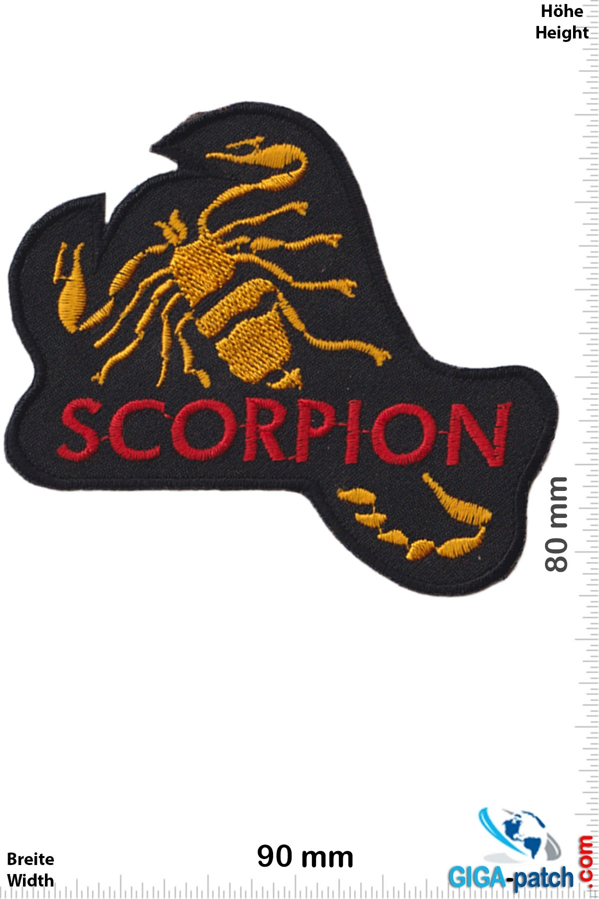 Scorpions Scorpion - rot  gold