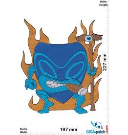 Mask Hawaii Mask - Blue -23 cm