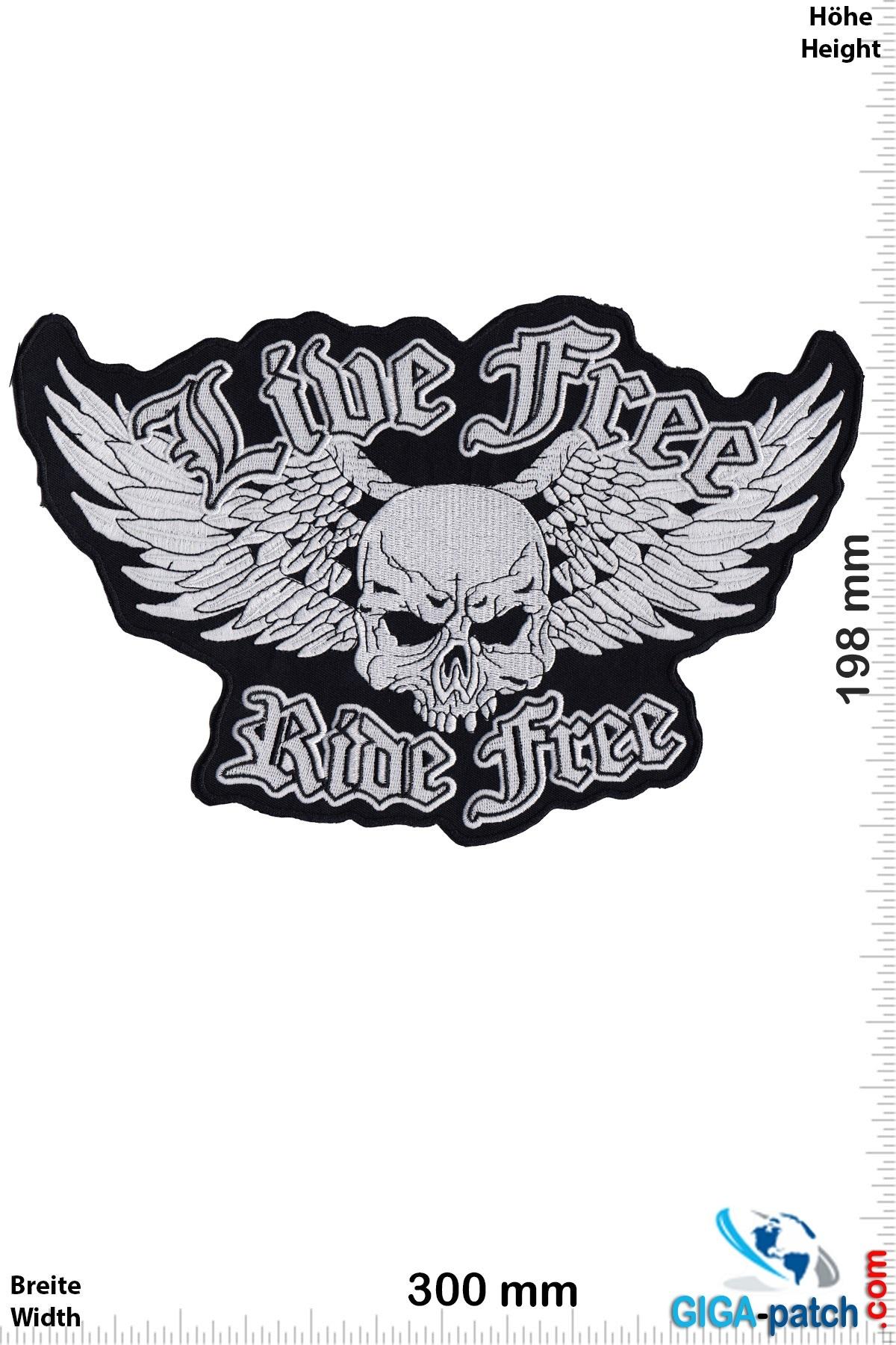 Skull Live Free - Ride Free  - 30 cm
