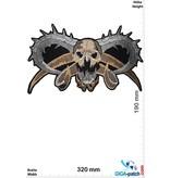 Totenkopf Skull - Devil - 32 cm