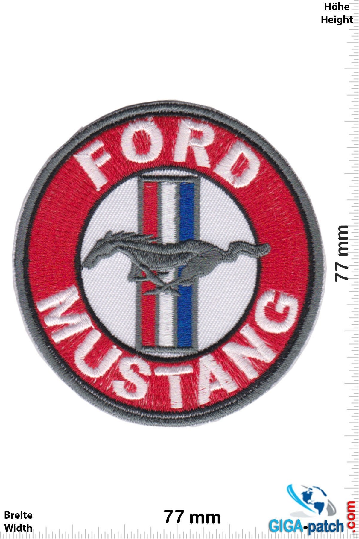 Ford Ford Mustang  - round- red