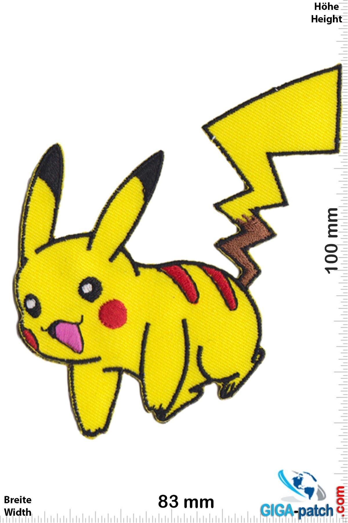 Pokemon Pikachu Pokemon Happy Pokemon Patch Back