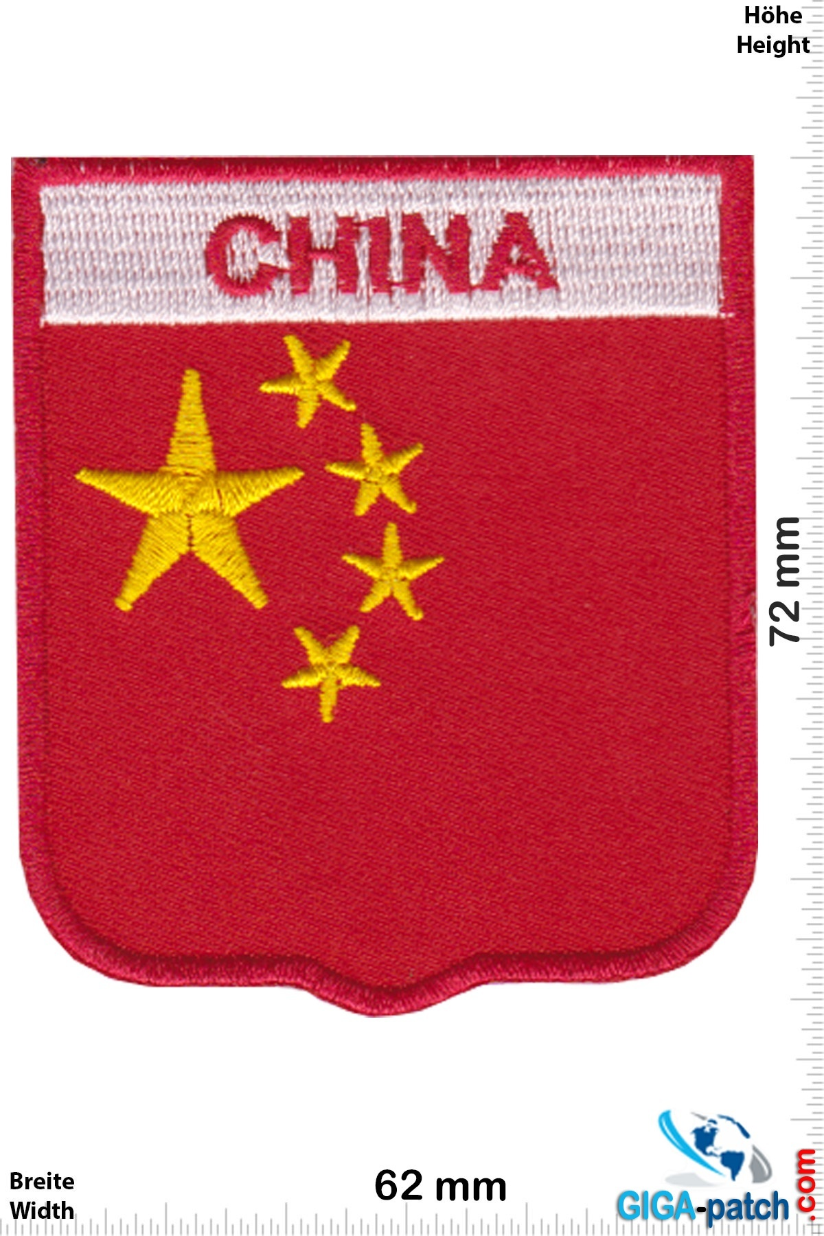 China - coat of arms - Flagge