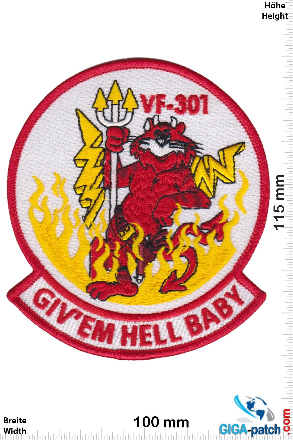 U.S. Navy US Navy VF-301 Fighter Squadron F-14 Tomcat - HQ