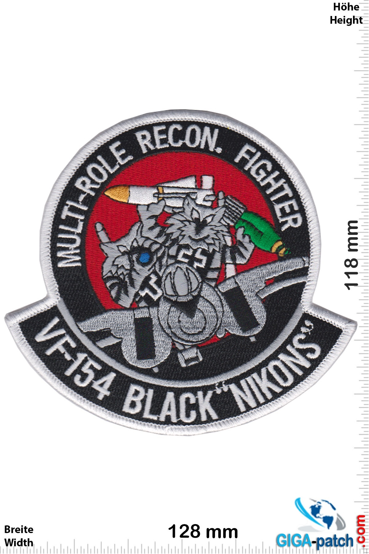 "U.S. Navy VF-154 Multi-Role Recon. Fighter - BLACK KNIGHTS - BLACK ""NIKONS"" - HQ"