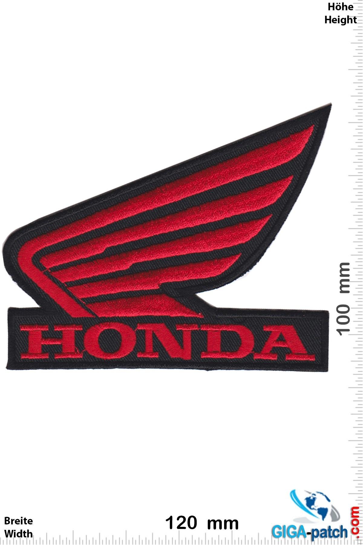 Honda Honda - Flügel - rot schwarz - big