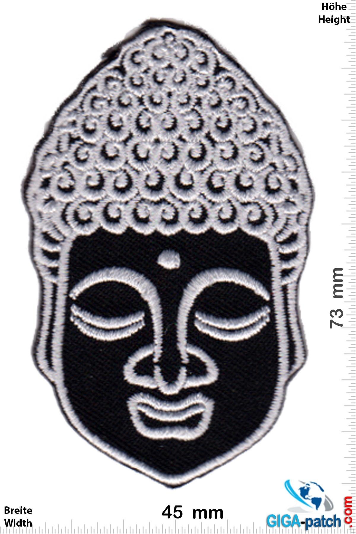 Buddha Buddhismus - Head - silver black