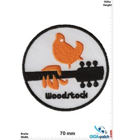 Woodstock Woodstock - guitar - bird - yellow