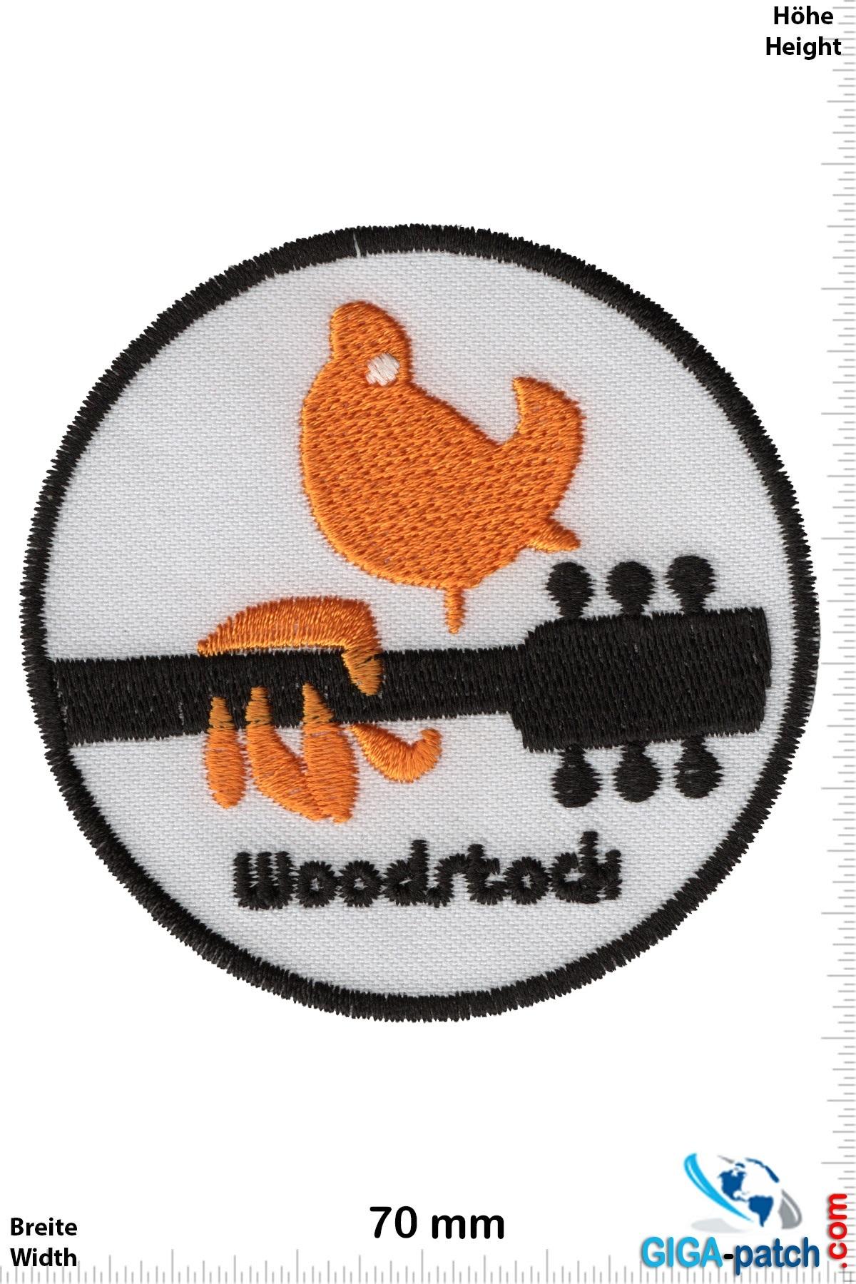 Woodstock Woodstock - guitar - bird - yellow