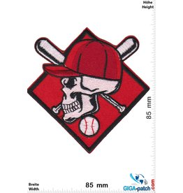 Baseball Baseball - Skull - red silver