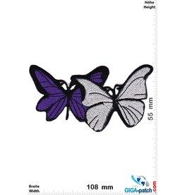 Schmetterling, Papillon, Butterfly Schmetterling -silver purple