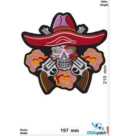 Totenkopf Cowboy Skull - Guns  Rose -21 cm