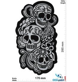 Muerto Skull - 3 Muerto  - silver black -  28 cm