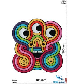 Inca Empire Symbols - 3 eyes  - rainbow -  20 cm