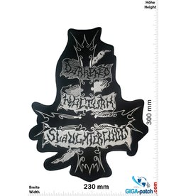 Darkened Nocturn Slaughtercult - Black-Metal-Band - 30 cm