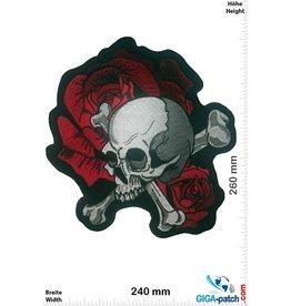 Totenkopf Totenkopf Rose - 26 cm