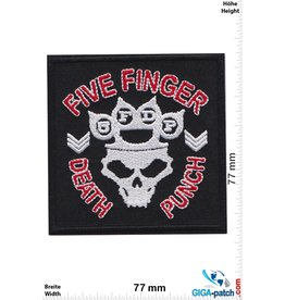 Five Finger Death Punch Five Finger Death Punch - Skull - red silver - Metalband