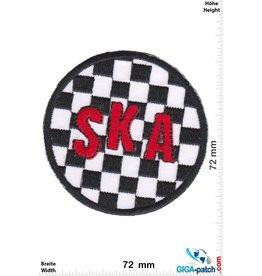 SKA SKA - black white red  - round