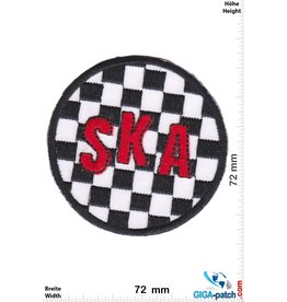 SKA SKA - black white red  - rund