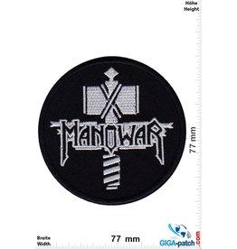 Manowar Manowar - silver back - round