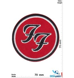 Foo Fighters Foo Fighters - US Rockband - silver black red round