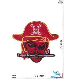 Pirat Pirate - head - red