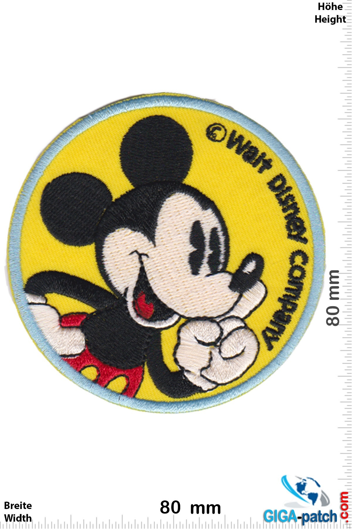 Mickey Mouse  Mickey Mouse  - Walt Disney Company - round