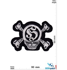 Totenkopf Skull pirate - silver black