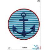 Navy Marine -  Anker - blue white