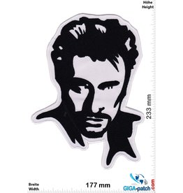 Johnny Hallyday - black white - 23 cm
