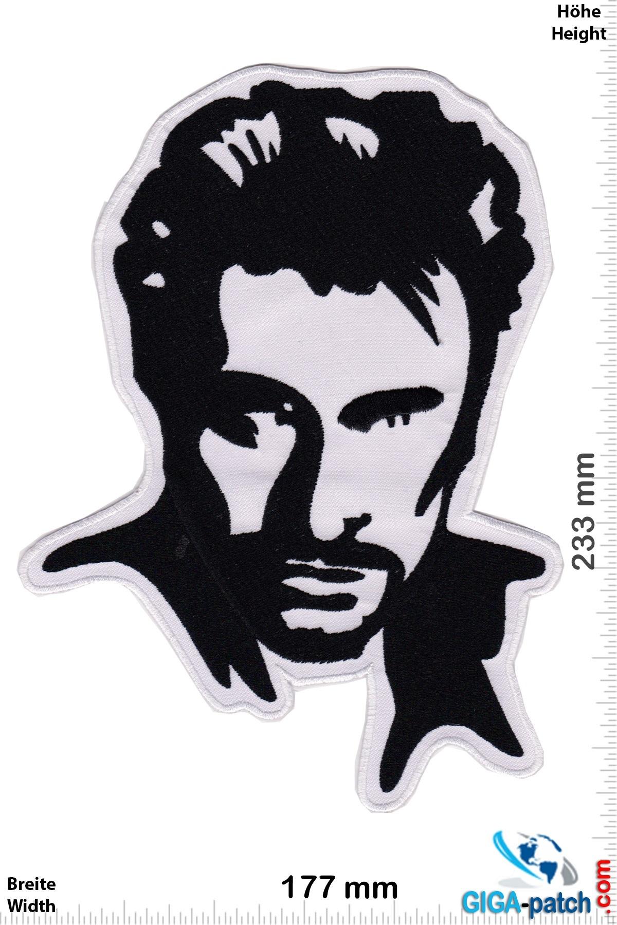Johnny Hallyday - black white - 23 cm