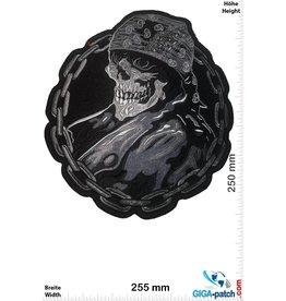 Totenkopf Skull skull chain ring -25 cm
