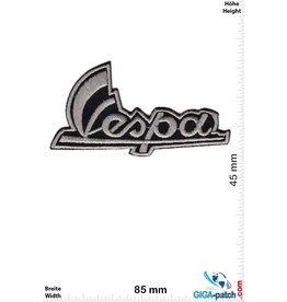 Vespa Vespa - Roller - Schrift -silbergrau