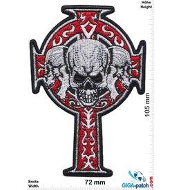 Totenkopf Skull - cross -  crucifix