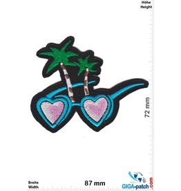 Fun Heart Sunglasses - Palms