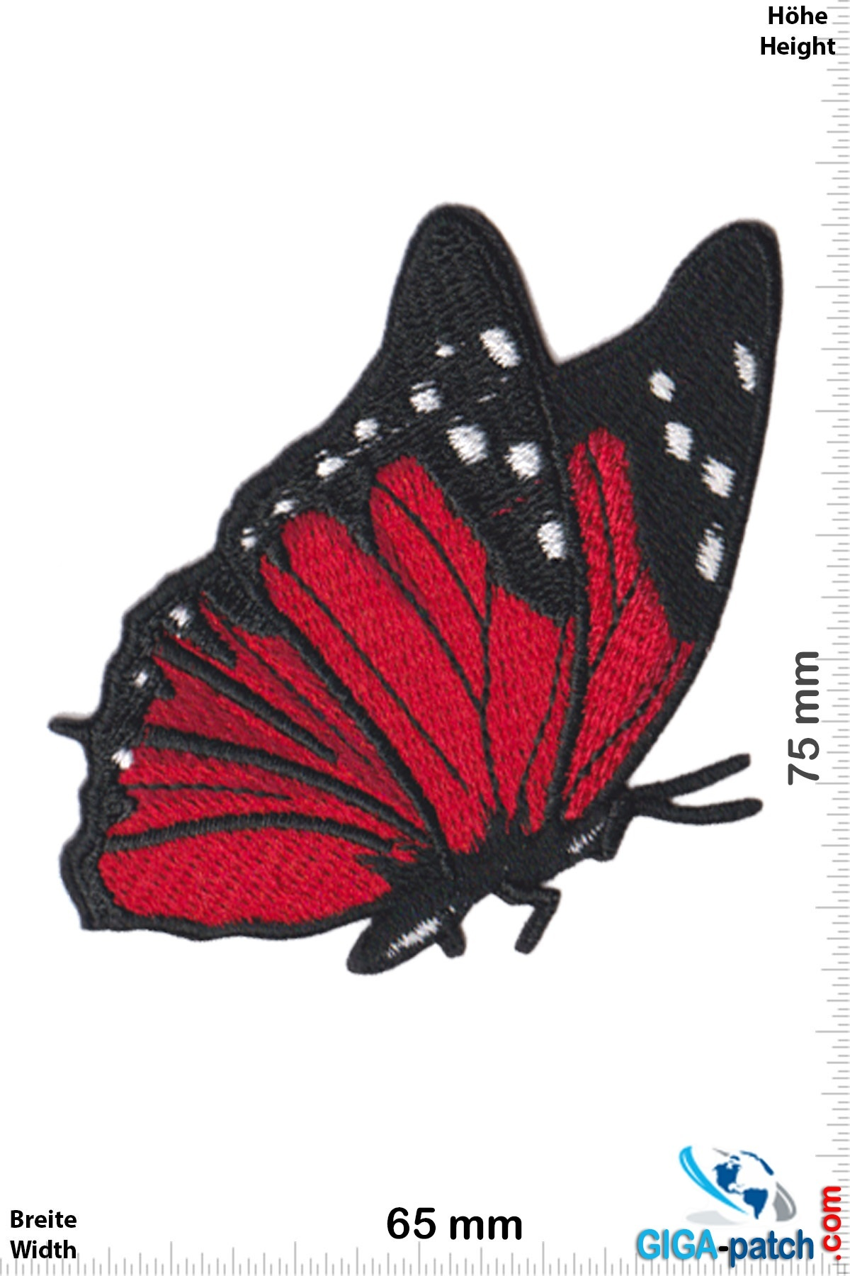 Schmetterling Butterfly - fly-red black
