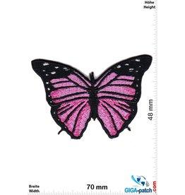Schmetterling Butterfly -pink black