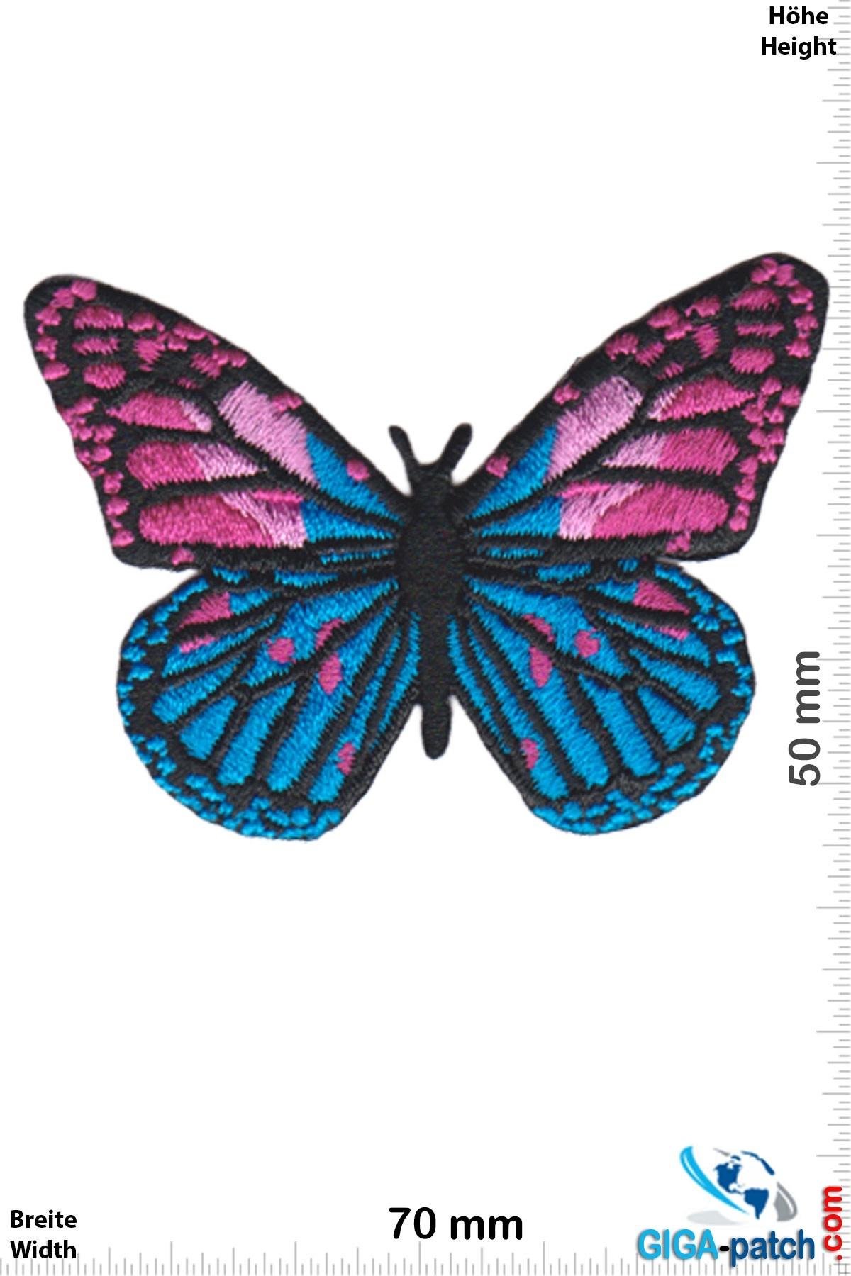 Schmetterling Butterfly -blue pink