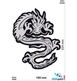 Drachen Drachen - Dragon - silver  - 22 cm