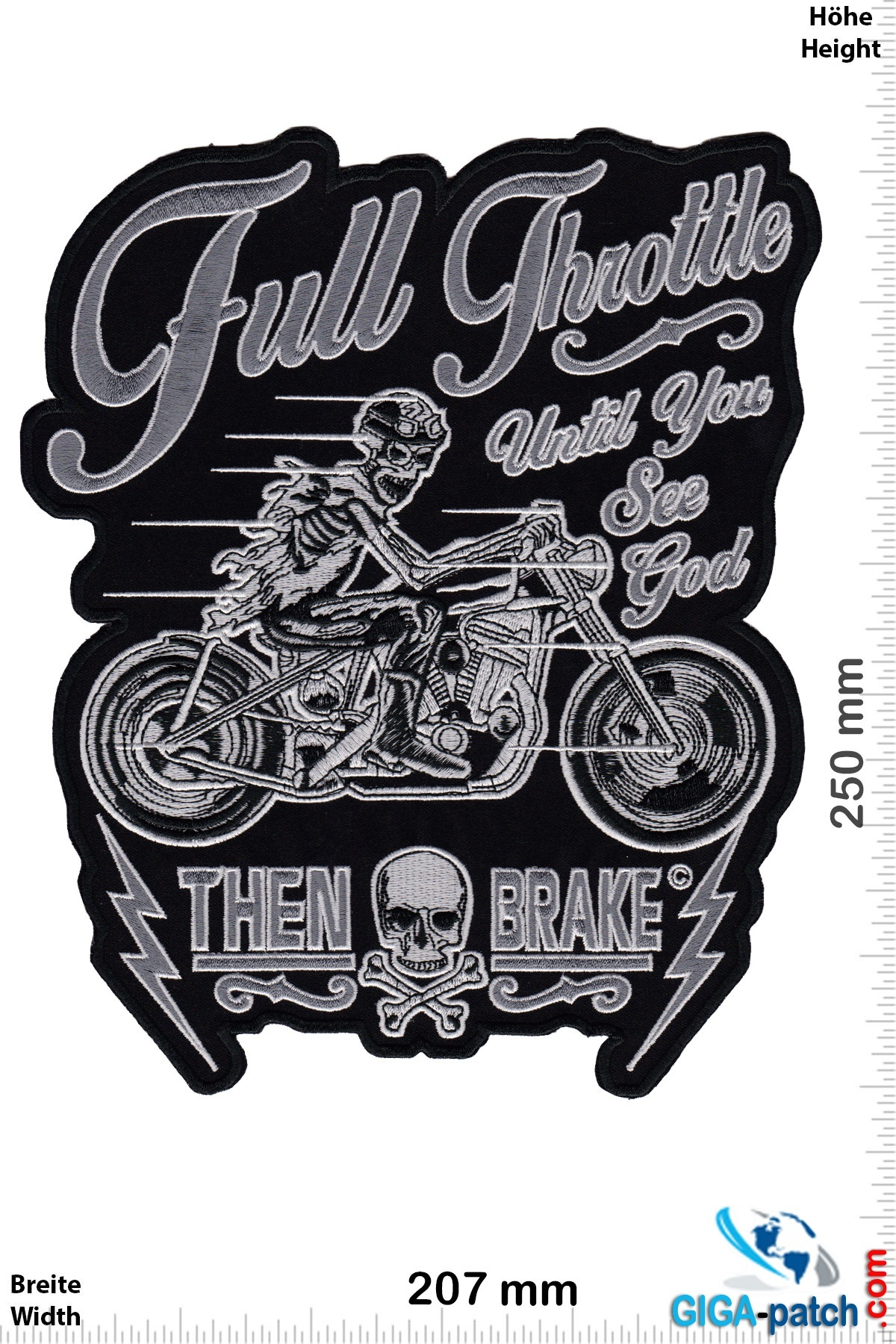 Full Throttle until you see god - Then Brake -25 cm