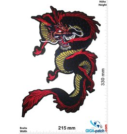 Drachen Dragon - blue black - 33 cm