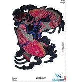 Koi Carp - China Style - red black blue - 32 cm