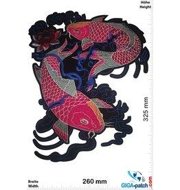 Koi Karpfen - China Style - red black blue  -32 cm