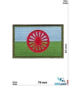 Gypsy Roma Flagge - blau  grün