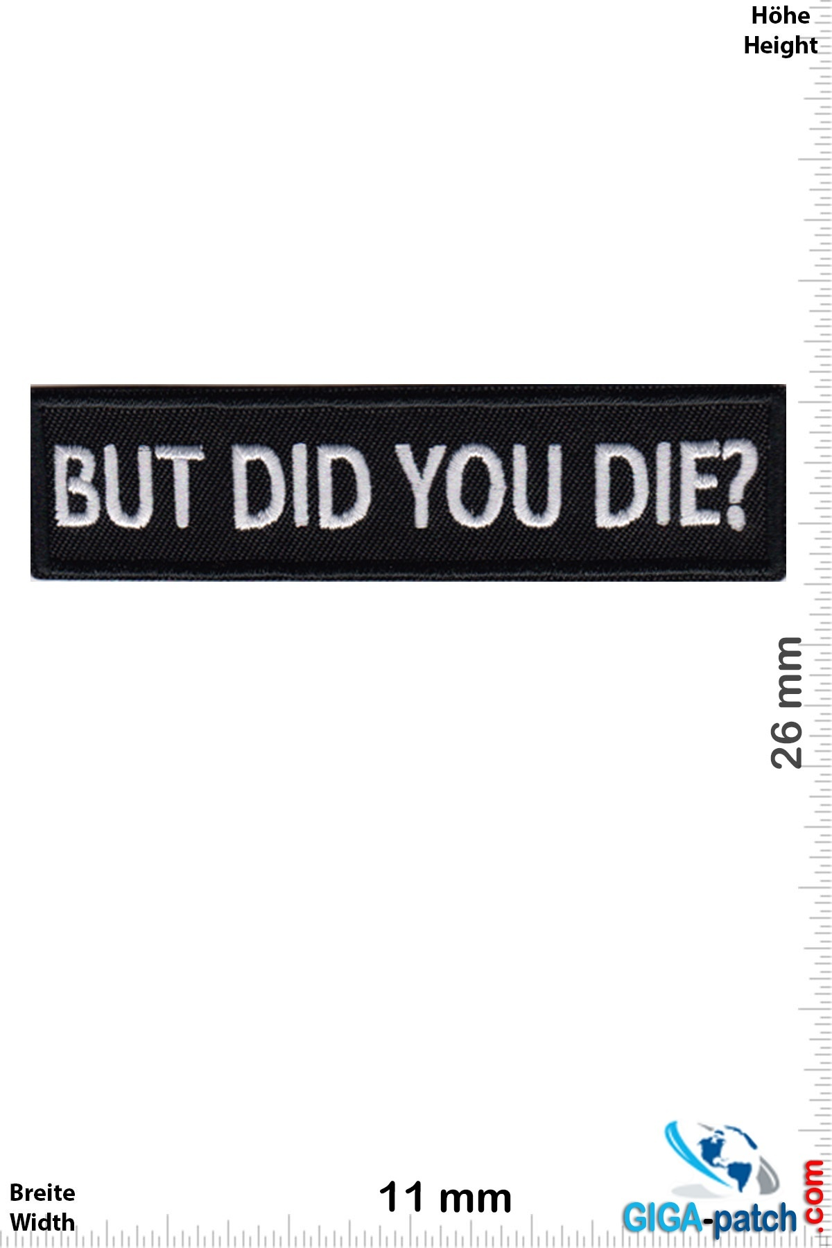 Sprüche, Claims But did you die?